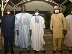 Tinubu with APC caretaker committee