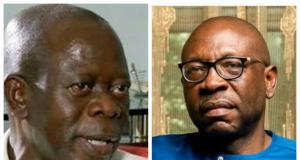 Adams Oshiomhole and Pastor Osagie Ize-Iyamu