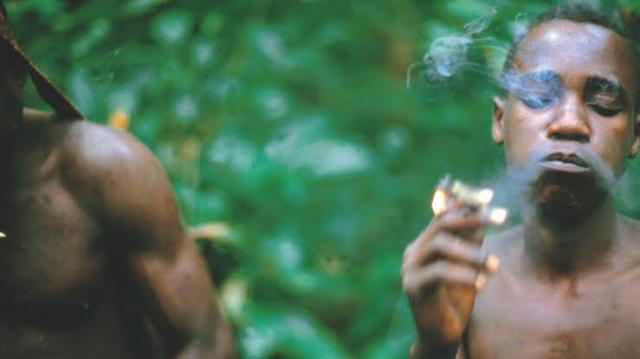 Men smoking hemp
