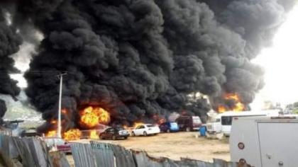 Kogi tanker accident scene