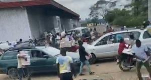 Protesters cart away food items in Osun
