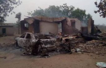 Burnt home of Sarkin Fulani in Oyo