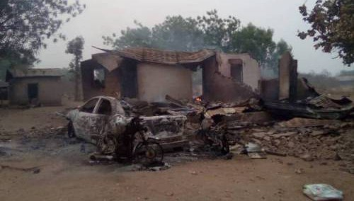 Burnt home of Sarkin Fulani in Oyo