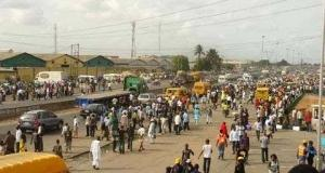 Bus drivers protest in Lagos