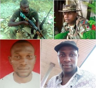 Four of the executed soldiers: L-R: Ebube, Ukwuoma, Uchendu, Anyim