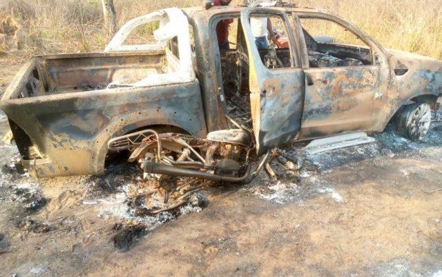 Amotekun vehicle burnt