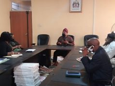 Bola Oyebamiji, during the meeting with chairman & management of OIRS.