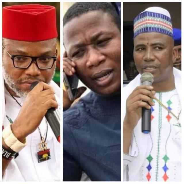 Nnamdi Kanu, Sunday Igboho, Abdullahi Bello Bodejo