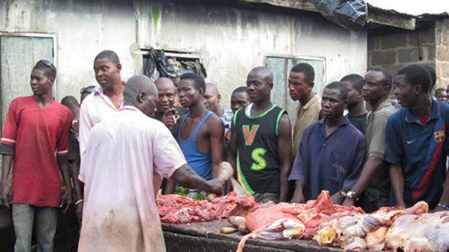 Cow meat market