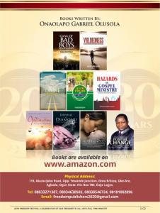Collection of books written by Gabriel Onaolapo