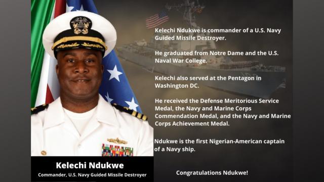 U.S. Navy Commander, Kelechi Ndukwe