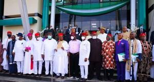 South East governors with Ohanaeze leaders