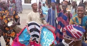 Obasanjo and masquerade