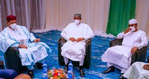 Mohamed Bazoum, Muhammadu Buhari and Mahamat Deby