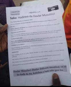 Boko Haram pamphlets