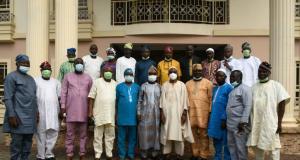Rauf Aregbesola with members of The Osun Progressive