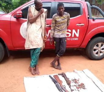 Suspected bandits Mumini Saliu, and Ibrahim Suleiman