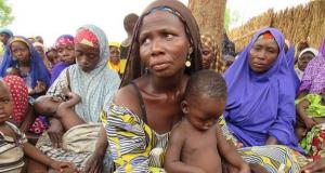 Displaced persons camp in Nigeria