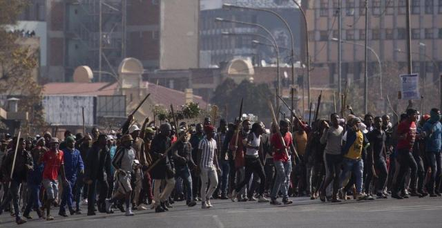 Zulu protesters in South Africa