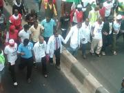 Resident doctors protest